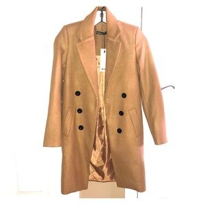 Boohoo camel coat